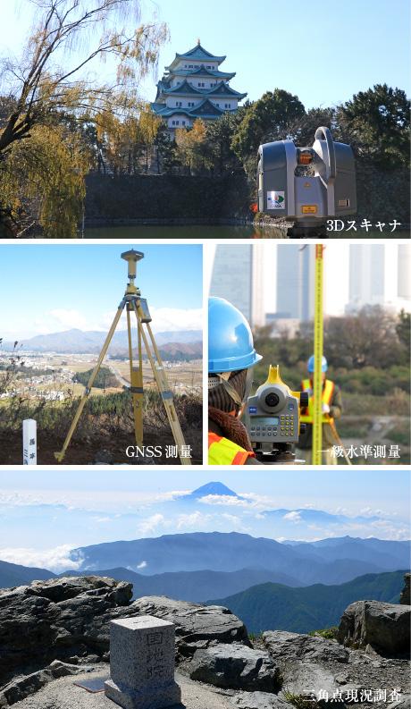 測量調査部:3Dスキャナー、一等水準測量、GNSS観測量
